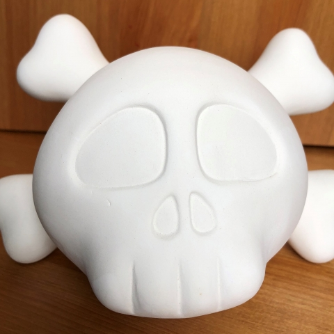Skull Money Box Front